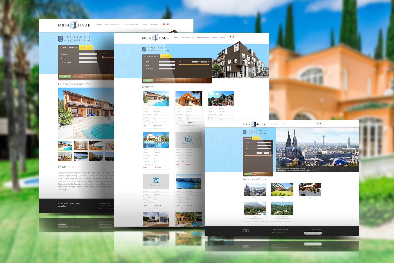 97e52deb2f6d9 Создание сайта-каталога агенства недвижимости в Европе Mein Haus
